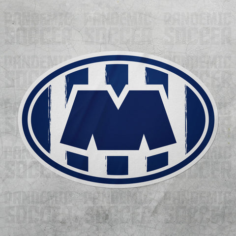 Rayados Monterrey Mexico Oval Vinyl Sticker - Pandemic Soccer