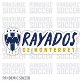 Rayados Monterrey Mexico Vinyl Sticker Decal Calcomania - Pandemic Soccer
