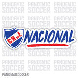 Nacional Uruguay Decano Vinyl Sticker Decal Calcomania - Pandemic Soccer