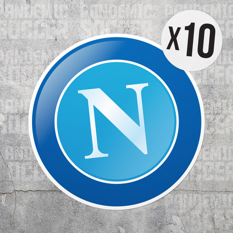 SSC Napoli Calcio Italy Vinyl Sticker Decal Pack - 10 Stickers - Pandemic Soccer