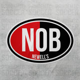 Newells Old Boys Argentina Oval Vinyl Sticker - Pandemic Soccer