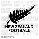 New Zealand National Soccer Team Vinyl Sticker Decal
