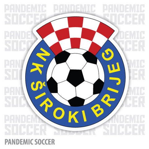 NK Široki Brijeg Bosnia Vinyl Sticker Decal - Pandemic Soccer