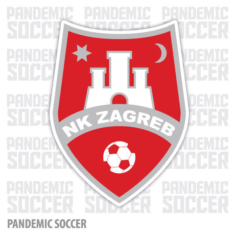 NK Zagreb Croatia Vinyl Sticker Decal - Pandemic Soccer
