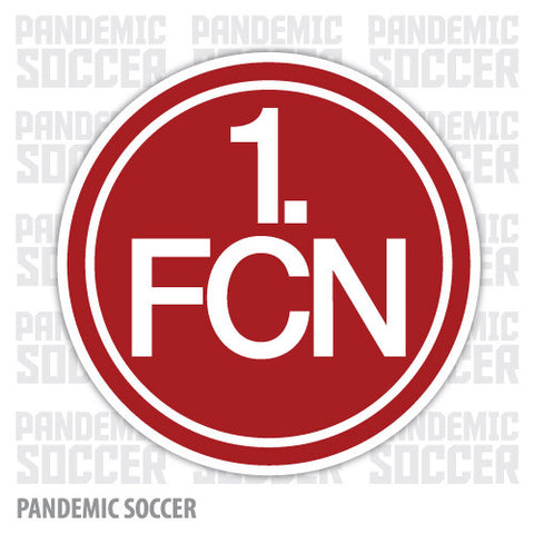 1. FC Nurnberg Germany Vinyl Sticker Decal - Pandemic Soccer