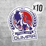 Deportivo Olimpia Honduras Vinyl Sticker Decal Pack - 10 Stickers - Pandemic Soccer