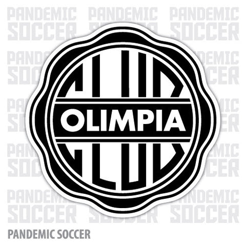 Olimpia Asuncion Paraguay Vinyl Sticker Decal Calcomania - Pandemic Soccer