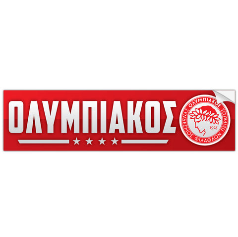 Olympiacos FC Greece Bumper Sticker Decal - Pandemic Soccer