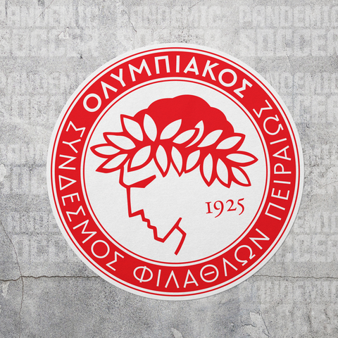 Olympiacos FC Athens Greece Vinyl Sticker Decal - Pandemic Soccer