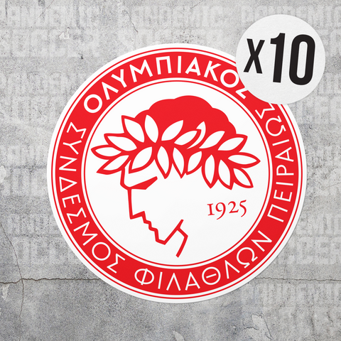Olympiacos FC Athens Greece Vinyl Sticker Decal Pack - 10 Stickers - Pandemic Soccer