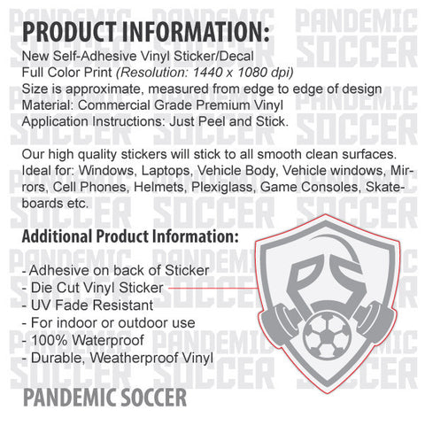 Ireland national soccer team vinyl sticker decal pandemic soccer