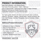 Leicester City FC England Color Vinyl Sticker Decal - Pandemic Soccer