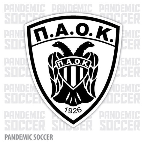 PAOK FC Thessaloniki Greece Color Vinyl Sticker Decal - Pandemic Soccer