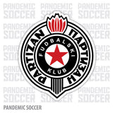 FK Partizan Belgrade Serbia Vinyl Sticker Decal - Pandemic Soccer
