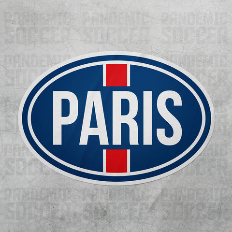 PSG Paris France Oval Vinyl Sticker - Pandemic Soccer