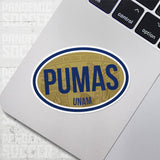 Pumas UNAM Mexico Oval Vinyl Sticker - Pandemic Soccer
