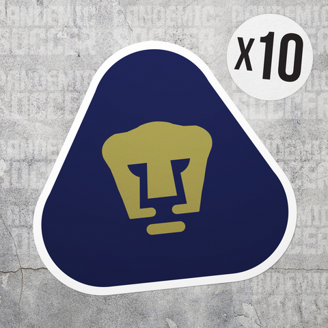 Pumas UNAM Mexico Vinyl Sticker Pack - 10 Stickers - Pandemic Soccer