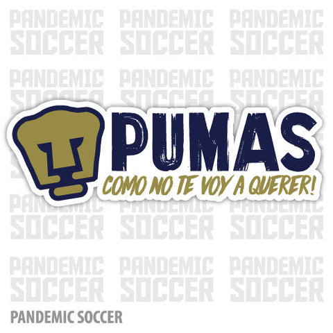 Pumas UNAM Mexico Vinyl Sticker Decal Calcomania
