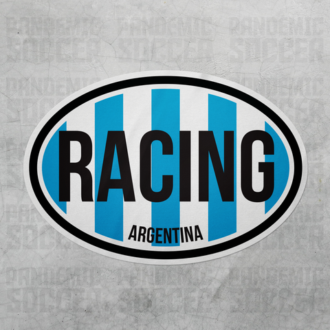 Racing Argentina Oval Vinyl Sticker - Pandemic Soccer
