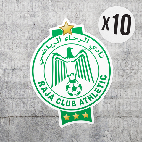 Raja Casablanca Morocco Vinyl Sticker Decal Pack - 10 Stickers - Pandemic Soccer