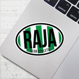 Raja Club Athletic Morocco Oval Vinyl Sticker - Pandemic Soccer