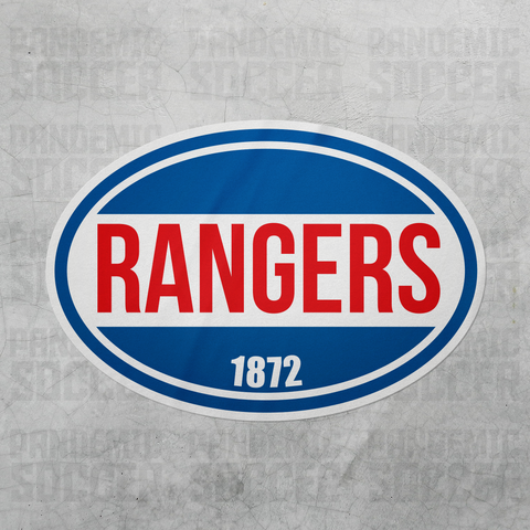 Rangers FC Scotland Oval Vinyl Sticker - Pandemic Soccer