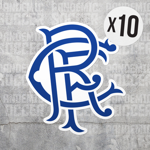 Rangers FC Glasgow Scotland Vinyl Sticker Decal Pack - 10 Stickers - Pandemic Soccer