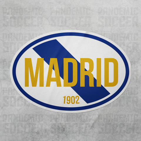 Real Madrid Spain Oval Vinyl Sticker - Pandemic Soccer