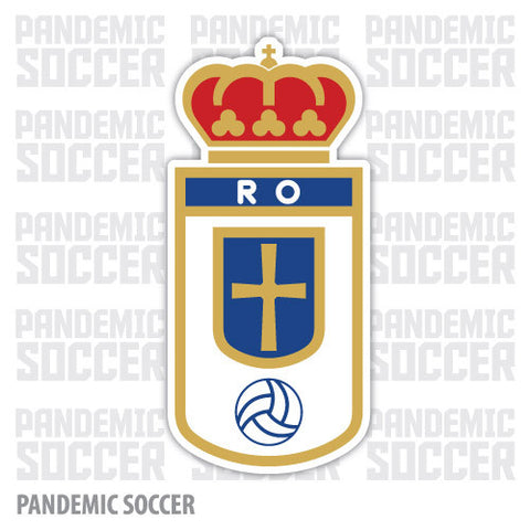 Real Oviedo Spain Vinyl Sticker Decal Pegatina - Pandemic Soccer
