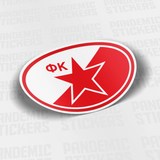 Red Star Belgrade Serbia Oval Vinyl Sticker - Pandemic Soccer