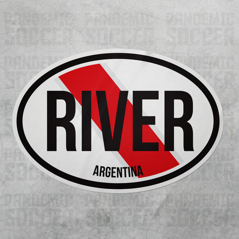 River Plate Argentina Oval Vinyl Sticker - Pandemic Soccer