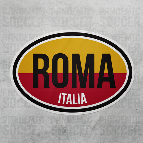 AS Roma Italy Oval Vinyl Sticker - Pandemic Soccer