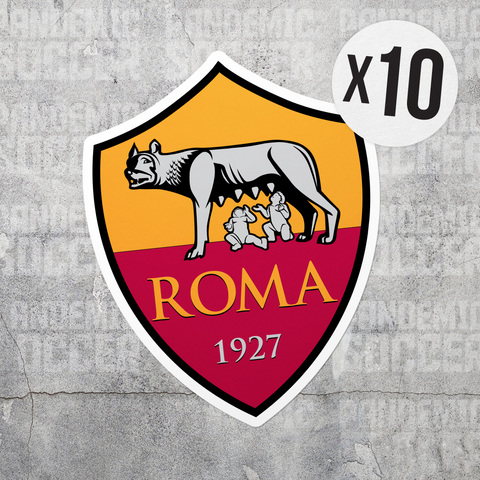 Roma Calcio Italy Color Vinyl Sticker Pack - 10 Stickers - Pandemic Soccer