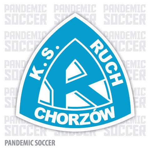 Ruch Chorzów Poland Vinyl Sticker Decal - Pandemic Soccer