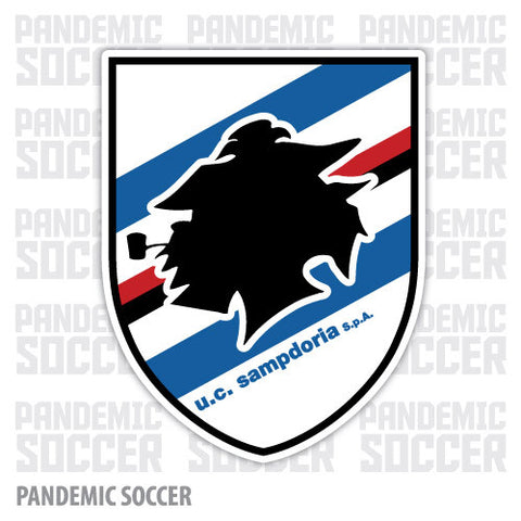 Sampdoria Italy Color Vinyl Sticker Decal - Pandemic Soccer