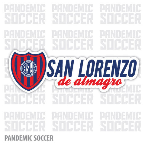 San Lorenzo Argentina Vinyl Sticker Decal Calcomania - Pandemic Soccer