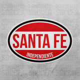 Independiente Santa Fe Colombia Oval Vinyl Sticker - Pandemic Soccer