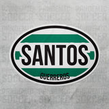 Santos Laguna Torreon Liga MX Oval Vinyl Sticker - Pandemic Soccer