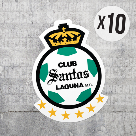 Santos Laguna Mexico Vinyl Sticker Decal Pack - 10 Stickers - Pandemic Soccer