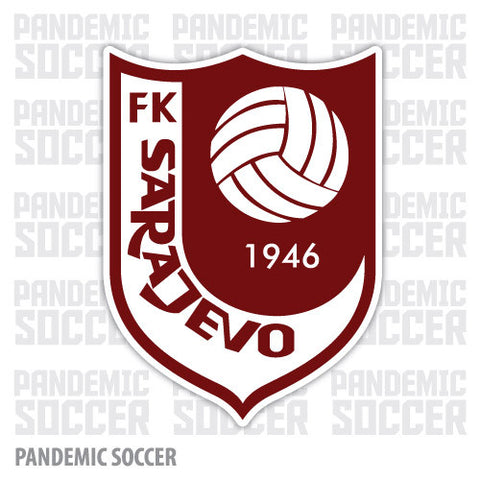 FK Sarajevo Bosnia Color Vinyl Sticker Decal - Pandemic Soccer