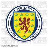 Scotland National Soccer Team Vinyl Sticker Decal