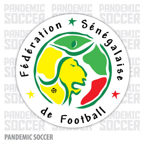 Senegal National Soccer Team Vinyl Sticker Decal