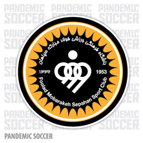 Sepahan SC Iran Vinyl Sticker Decal - Pandemic Soccer