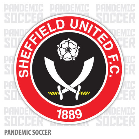 Sheffield United FC England Color Vinyl Sticker Decal - Pandemic Soccer