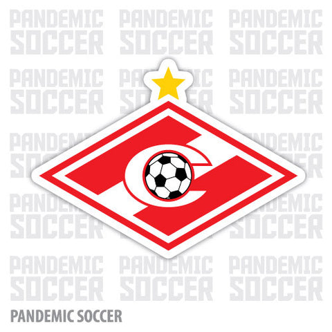 Spartak Moscow Russia Vinyl Sticker Decal - Pandemic Soccer