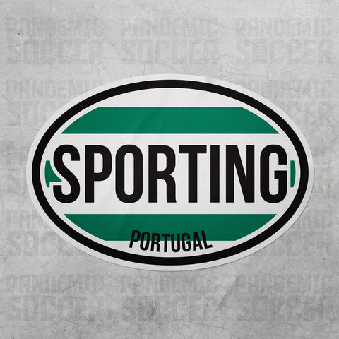 Sporting Lisboa Portugal Oval Vinyl Sticker - Pandemic Soccer
