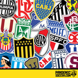 Nacional Uruguay Vinyl Sticker Decal Pack - 10 Stickers - Pandemic Soccer