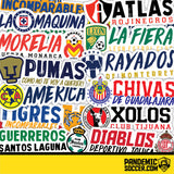 Toluca Diablos Mexico Vinyl Sticker Decal Calcomania - Pandemic Soccer
