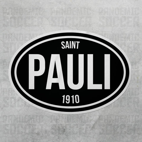 Saint Pauli Germany Oval Vinyl Sticker - Pandemic Soccer