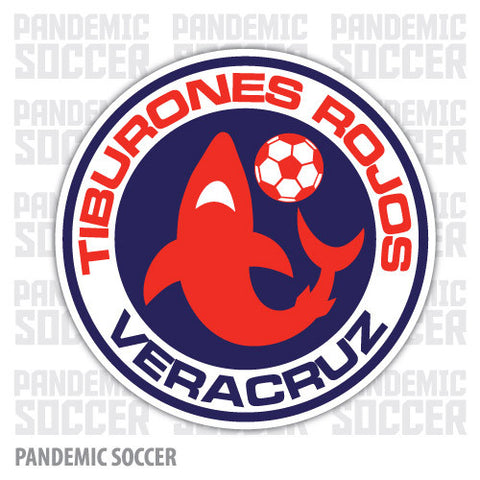 Tiburones Veracruz  Mexico Vinyl Sticker Decal Calcomania - Pandemic Soccer